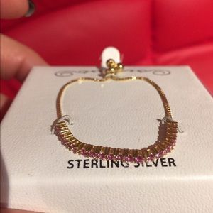 Sterling silver adjustable bracelet. With box/tag